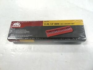 Mac Tools Smh17pt 17 Pc Hex Driver Set 1 4 Drive New Sealed