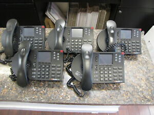 Lot Of 5 Shoretel 265 Ip Business Office Phones With Handsets And Stands Qty