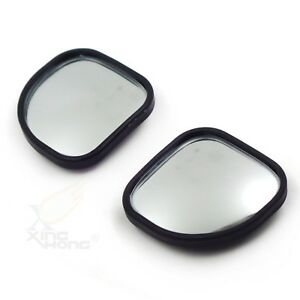 2x Fan Shaped 360 Auto Car Blind Spot Round Stickon Side View Rearview Mirror