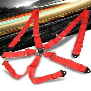 Nrg Sbh 6pcrd 6 point Cam Lock Red Racing Seat Belt Harness Replacement