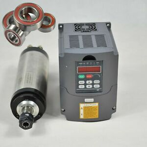 Top 3kw Water cooled Spindle Motor 3kw Inverter Variable Frequency Drive 100mm
