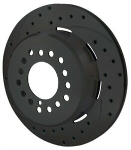 Wilwood 160 9815 bk Srp Drilled Performance Rotor And Hat
