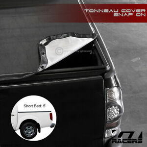For 2005 2019 Frontier Equator Crew Cab 5 Ft 60 Bed Snap On Vinyl Tonneau Cover