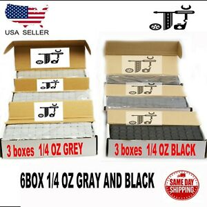 6BOX 1 4 OZ GRAY AND BLACK WHEEL WEIGHTS STICK ON ADHESIVE TAPE 54 LBS LEAD FREE $109.99