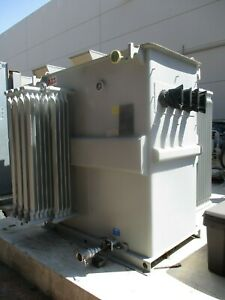 Abb 2500 Kva 13800 To 480y 277 Volts Oil Insulated Unit Substation Transformer