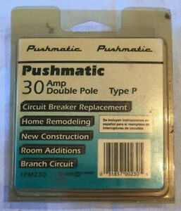Pushmatic Pm230 Double Pole 30 Amp Circuit Breaker Type P By Pushmatic Oem
