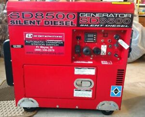 Sd8500 Contractor Super Duty Silent Diesel Electric Brushless 10 Hp Generator