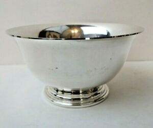 Stieff Sterling Silver 016 T Revere Style 4 5 Footed Bowl 138 Grams
