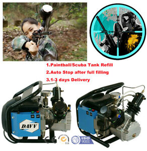High Pressure Air Compressor Pump Electric Pcp Paintball Tank Refill 4500psi Usa