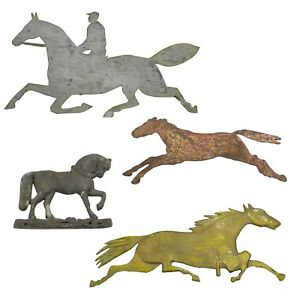 Collection Of Four Antique Horse Cutouts Weathervanes