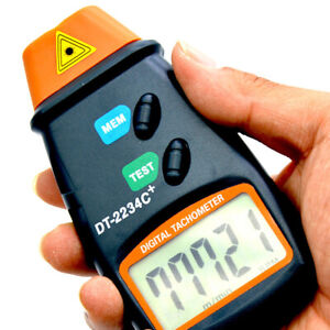 Digital Lcd Laser Photo Tachometer Non Contact Rpm Meter Measurings Device Tool