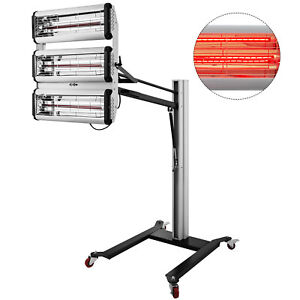 New 3000w Time Display Paint Baking Booth Infrared Paint Lamp Heater Light Cheap