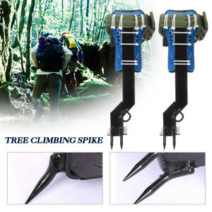 1 Pair Stainless Steel Tree Climbing Spike Set Pole Spurs Claws Travel Climber