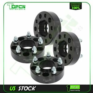 4x Black Wheel Spacers 5x4 5 1 2 Studs 1 5 Thick For Ford Mustang Edge Ranger