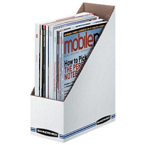 Case Of 12 Bankers Box Corrugated Cardboard Magazine File Document Storage White