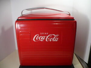 VINTAGE 1950`s COCA COLA COOLER with TRAY