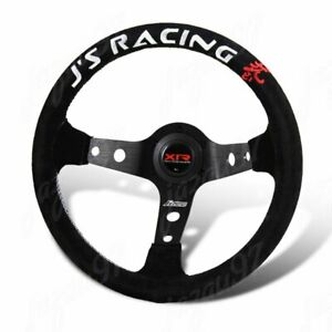 For J s Racing Xtreme Racers Type D 330mm Deep Dished Suede Steering Wheel