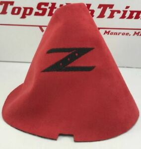 Nissan 350z 370z Embroidered Red Suede Shift Boot Z33 Z34 Nismo Fairlady Z