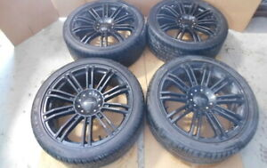 Aftermarket Black 20 Kmc 4 Wheels Rims Tires Set For 11 2011 Ford Mustang