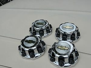 00 08 Chevy Silverado 2500 Hd Truck 16 8 Lug Chrome Center Caps Set Of 4