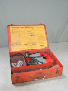 Hilti Te17 Rotary Hammer Drill With Case Extras