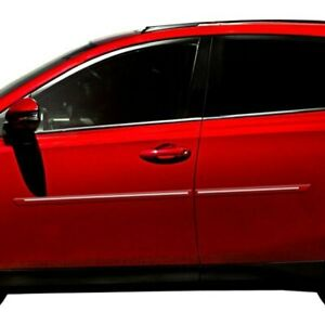 For Kia Sportage 11 16 1 25 Wide Body Side Moldings W Chrome Insert Painted