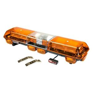 Wolo 7500 a Infinity 2 Bolt on Mount Amber Full Size Emergency Led Light Bar
