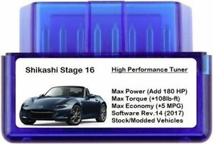 Stage 16 Power Performance Chip Tuner Add 180hp 5 Mpg Obd Car Van Suv Tuning