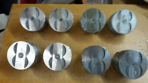 340 Chrysler Forged Pistons Flat Top 4 Reliefs L2385f Standard Bore
