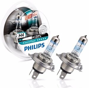 Philips H4 X Treme Extreme Xtreme Vision Pair 2 Car Bulbs 130 Lamps