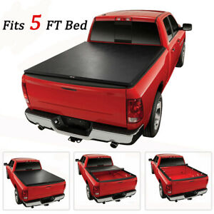Clamp Tonneau Cover 5ft Soft Roll up For 2005 2019 Toyota Tacoma Styleside Truck