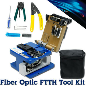 11 In1 Ftth Splice Fiber Optic Tool Kits Fibre Stripping Fc 6s Fiber Cleaver Vfl