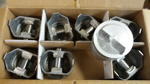 7002p L2166n Trw Forged Pistons 327 Chevy Dome Standard Bore Set Of 8