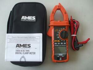 Excellent Ames Instruments Cm1000a T rms Ac dc Clamp Meter With Case