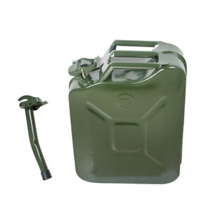 Jerry Can 5gal 20l Green Steel Gasoline Gas Fuel Tank Emergency Backup Military