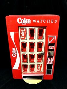 COCA COLA * COKE * 2 SIDED STORE WATCH DISPLAY * (VINTAGE) * Spinner (HOLDS 20)