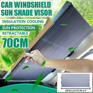 Retractable Car Windshield Front Window Sun Shade Visor Block Cover Uv Auto Suv