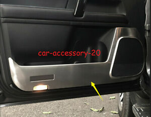 Stainless Car Door Anti Kick Pad Protect Panel Trim For Toyota 4runner 2010 2020