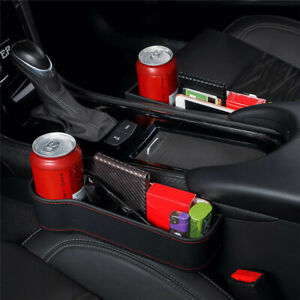 1 Pair Car Seat Crevice Box Storage Cup Holder Organizer Auto Gap Pocket Stowing
