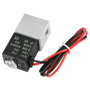12v Electric Solenoid Air Valve Dc 1 4 2 Way Normally Closed Pneumatic Aluminum