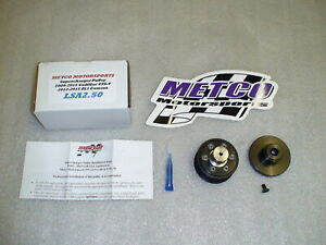 New Metco 2 5 Supercharger Pulley And Hub 6 2 Lsa 09 15 Cadillac Cts v 12 15 Zl1