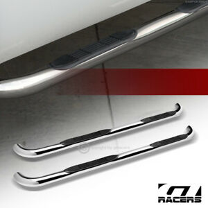 For 2004 2012 Chevy Colorado gmc Canyon Crew Cab 3 Side Step Nerf Bar Hd Chrome