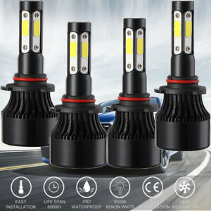 4pcs Led Headlight Bulb For 1994 1998 Chevy C k Silverado Suburban Tahoe 18000lm
