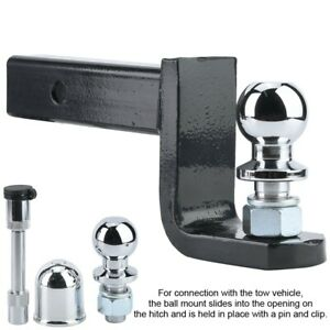 5000lbs Traction Adjustable 2in Ball Mount Hitch Trailer Tongue Tow Bar Fitting