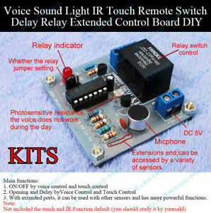 Voice Sound Light Ir Touch Remote Switch Control Delay Relay Extended Board Diy