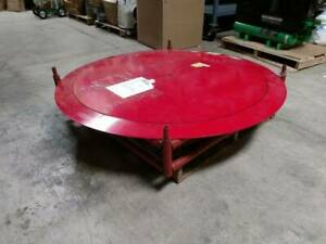 Manual Pallet Turntable Cap 4000 Lb Dia 51 In Low profile Disc Turntable
