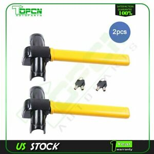 Car Security Rotary Steering Wheel Lock Universal Anti Theft Devices New 2pc