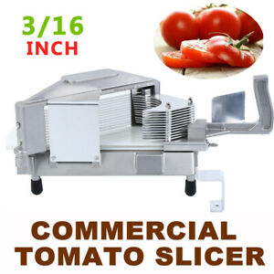 3 16 Commercial Tomato Slicer Fruit Vegetable Manual Cutter Tomato Cutting Us