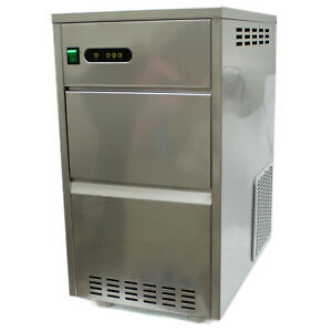 55lb Snow Flake Ice Maker Machine Stainless Steel Counter Top Granular Size