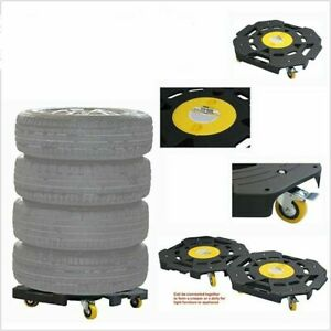 Rolling Tire Dolly Storage Shop Equipment Truck Car Garage Furniture Mover Wheel
